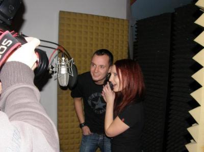 Natáčení duetu Buď a nebe s Bárou Zemanovou
