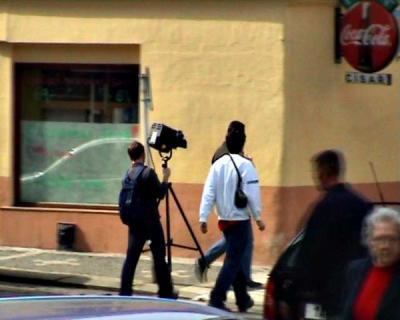 Důležitým prvkem natáčení byli bezpochyby přenašeči. Vzhledem ke krátkým vzdálenostem se nosilo všechno v ruce.